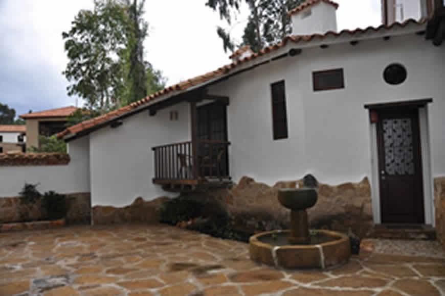 Fachada casa de las aguas en Villa de Leyva