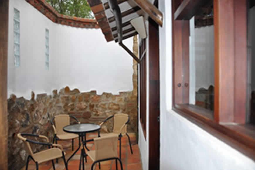 patio Casa de las Aguas 2 en Villa de Leyva