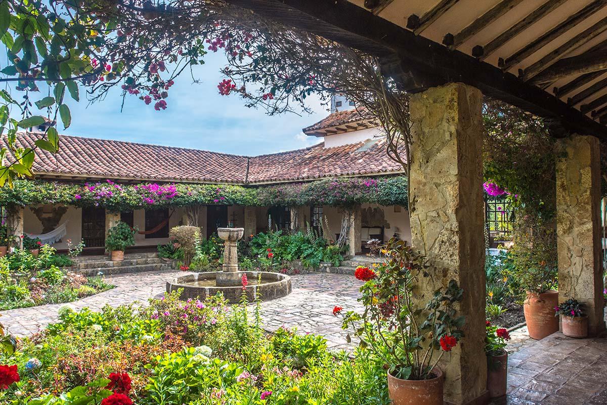Alquilar finca La Toscana en Villa de Leyva - Patio Central