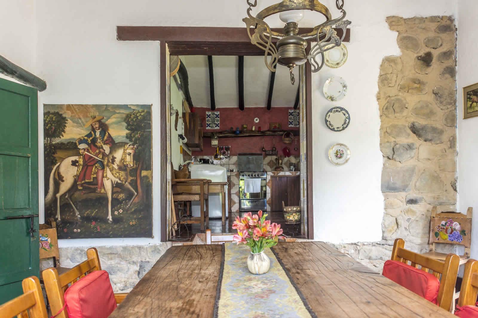 Alquiler casa Pozo Azul en Villa de Leyva - Comedor y cocina