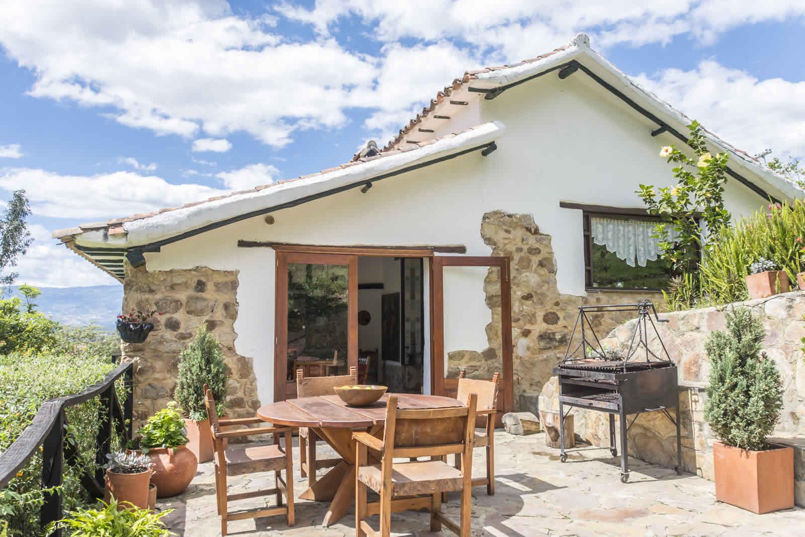 Alquiler casa Pozo Azul en Villa de Leyva - Terraza