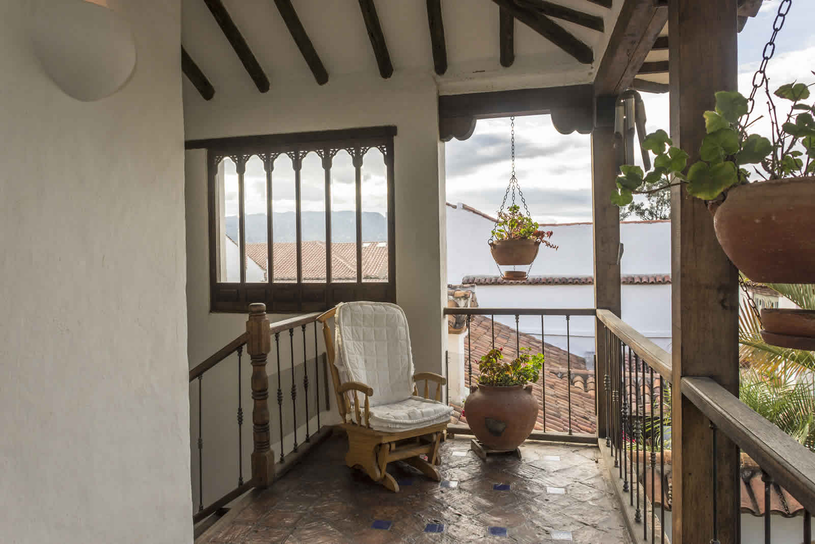 Balcón casa oasis alquiler villa de leyva