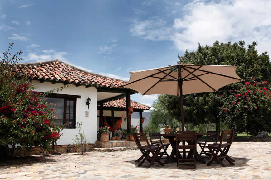 Terraza casa vieja Villa de Leyva