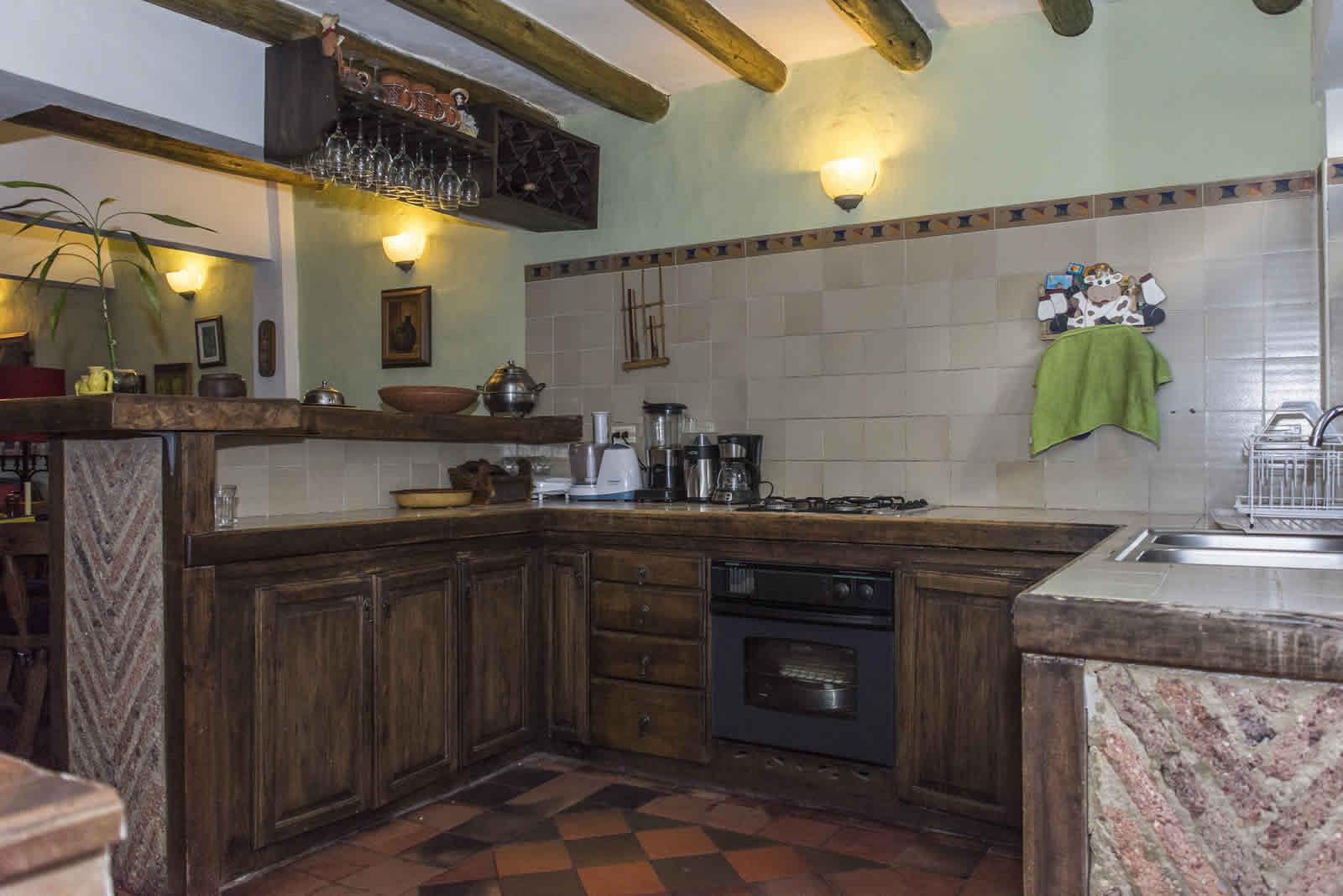Cocina de la casa de los castillo en Villa de Leyva