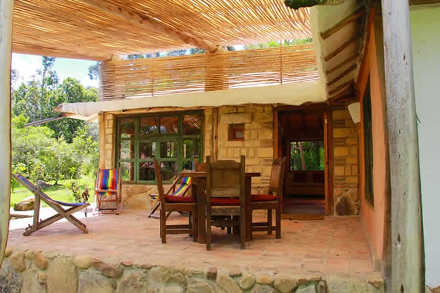 Terraza casa la colorada en Villa de Leyva