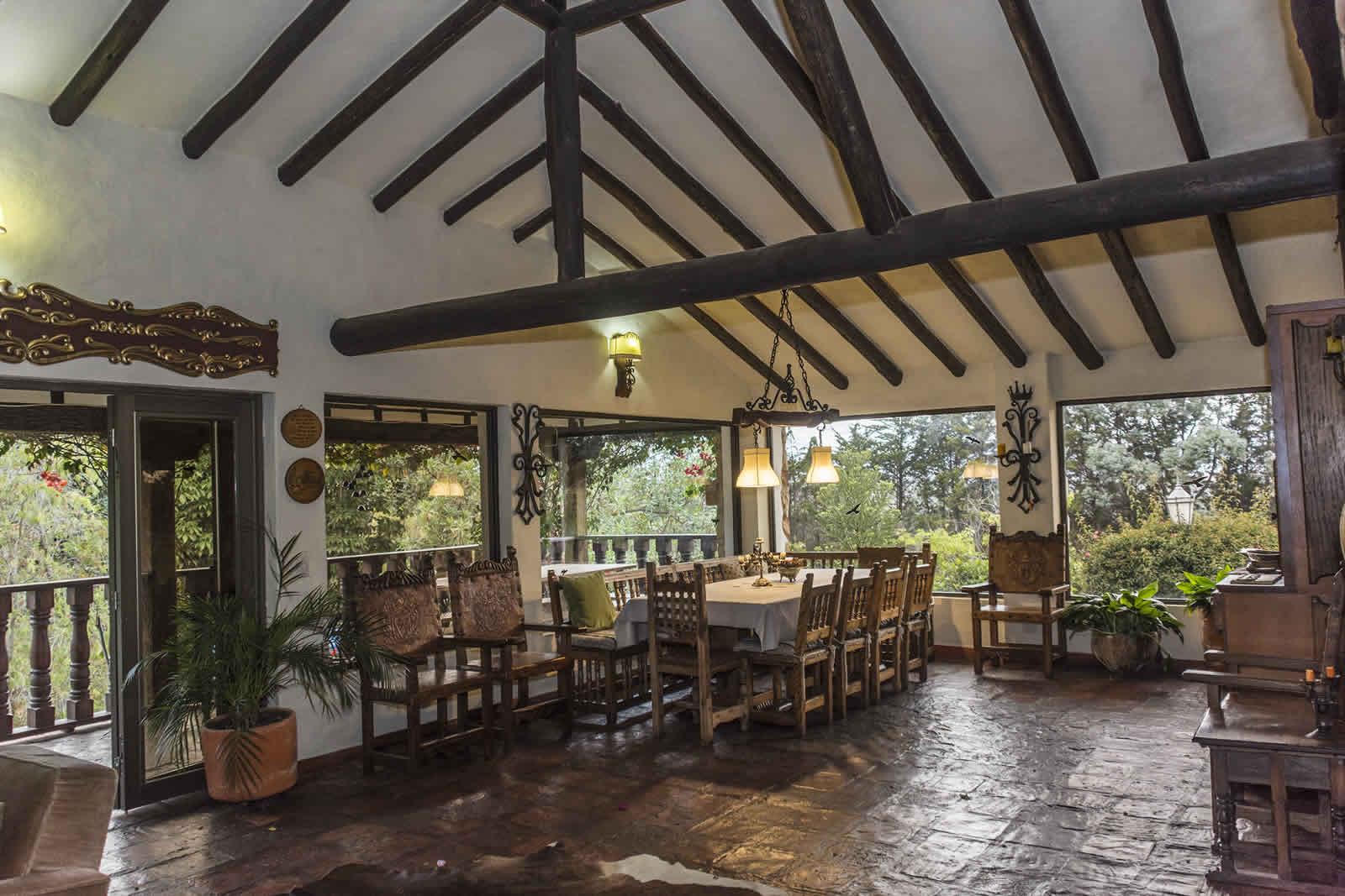 Comedor casa El Pino en Villa de Leyva