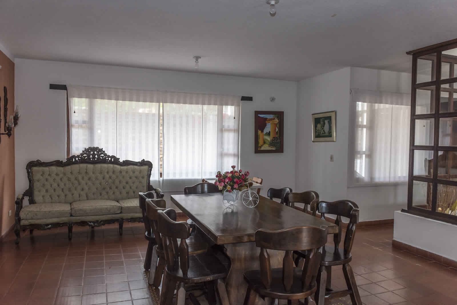 Comedor casa rosa Villa de Leyva