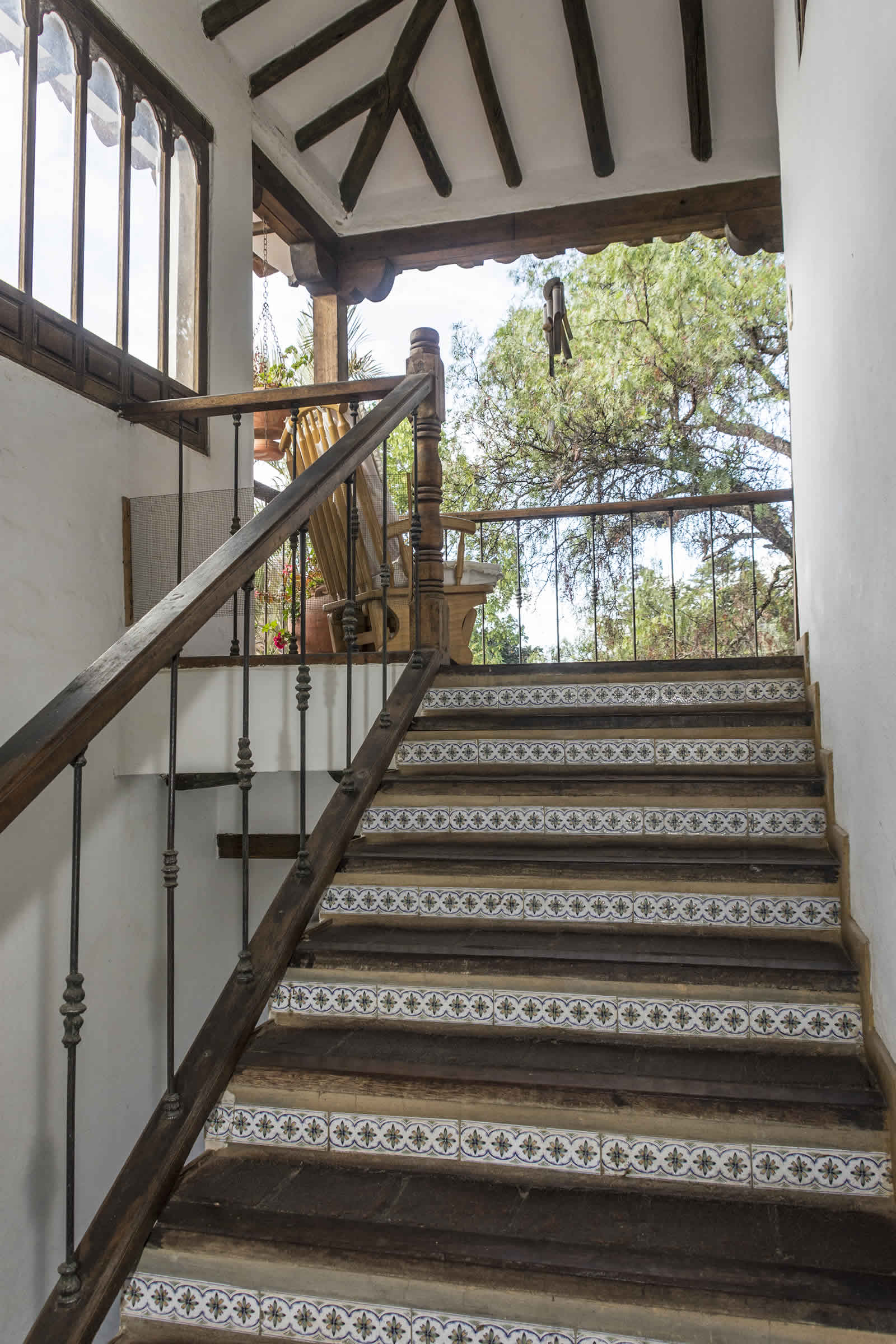 Escaleras casa oasis alquiler villa de leyva