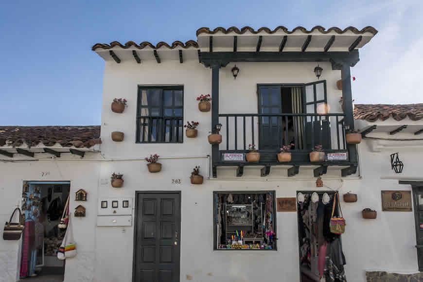Fachada casa de los castillo en Villa de Leyva