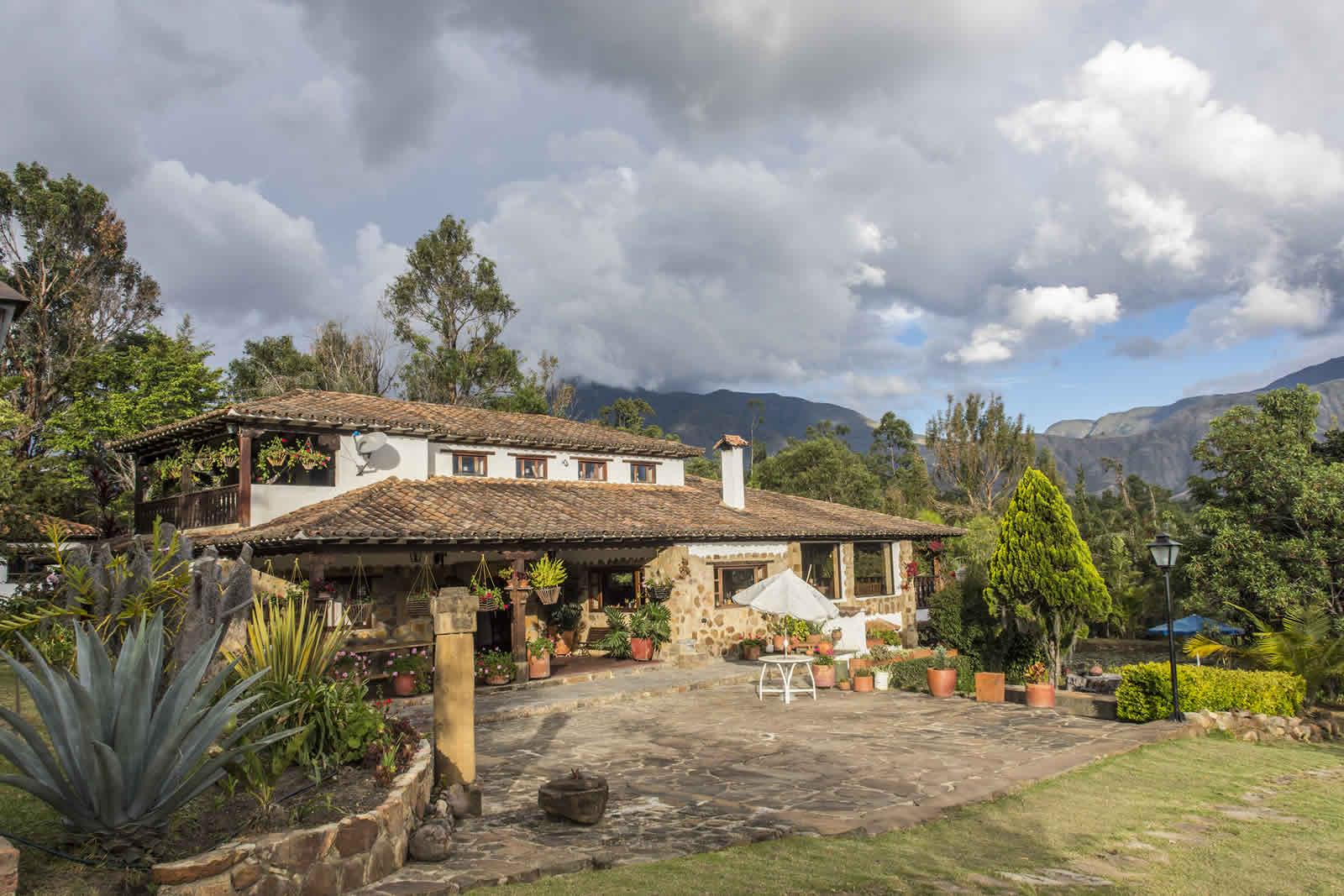 Fachada casa El Pino en Villa de Leyva