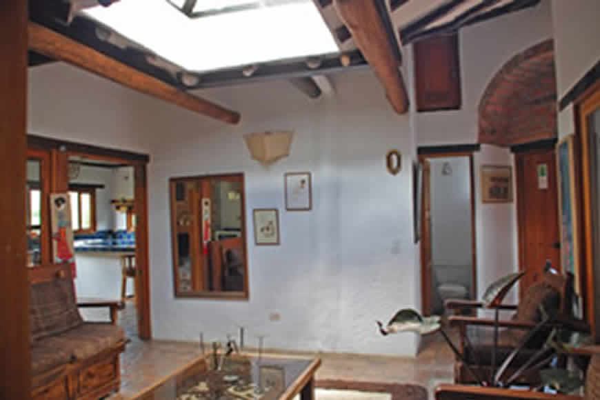 Sala casa flores en Villa de Leyva