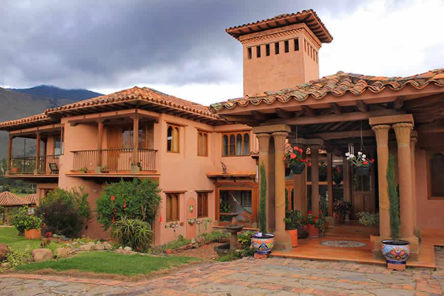 Fachada casa Furachagua en Villa de Leyva