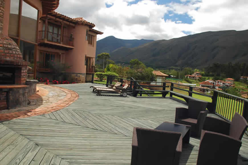 Terraza casa furachagua en Villa de Leyva