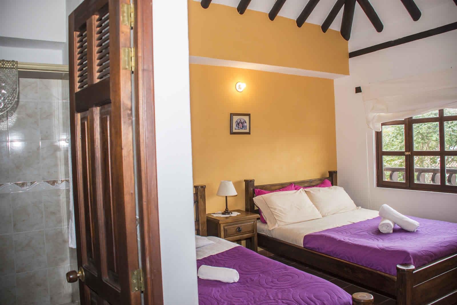 habitación 1 de la casa rosa en Villa de Leyva