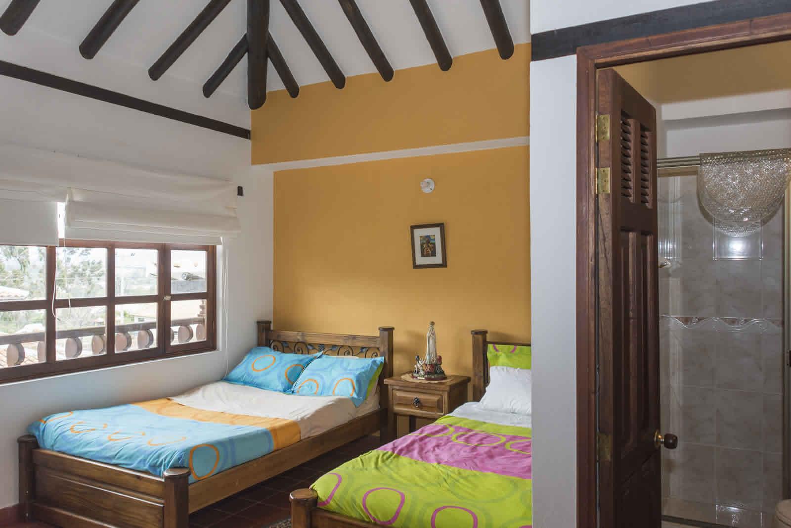 Habitación 2 de la casa rosa en Villa de Leyva