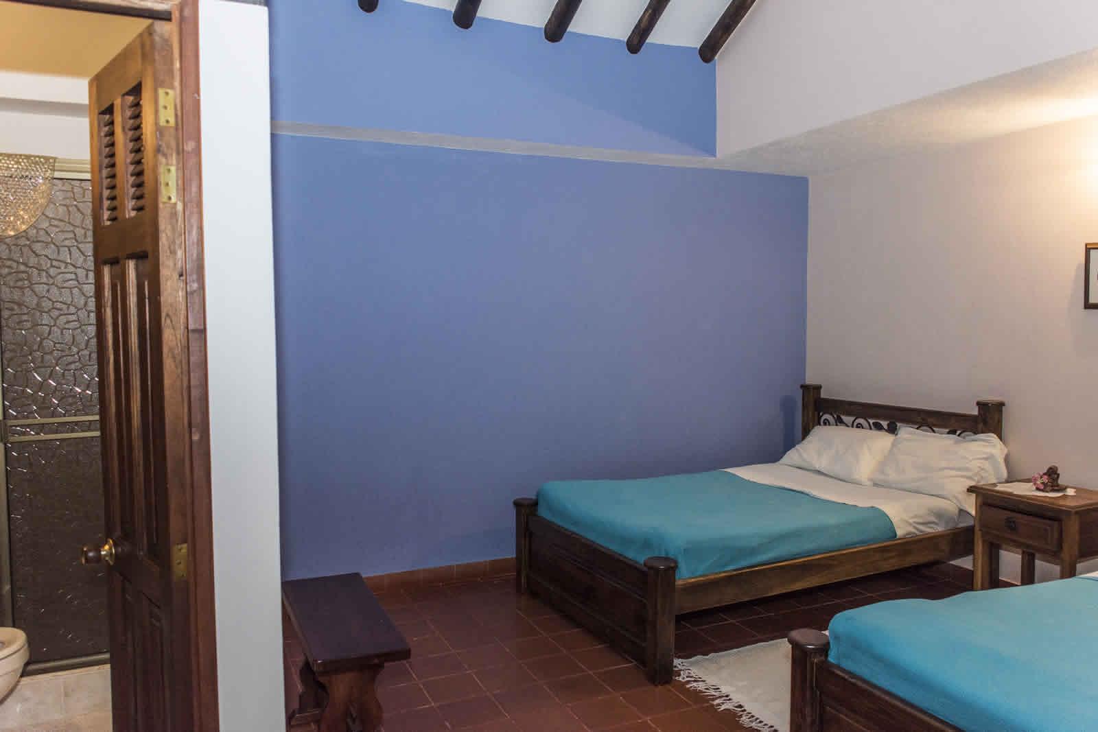 Habitación 3 casa rosa Villa de Leyva