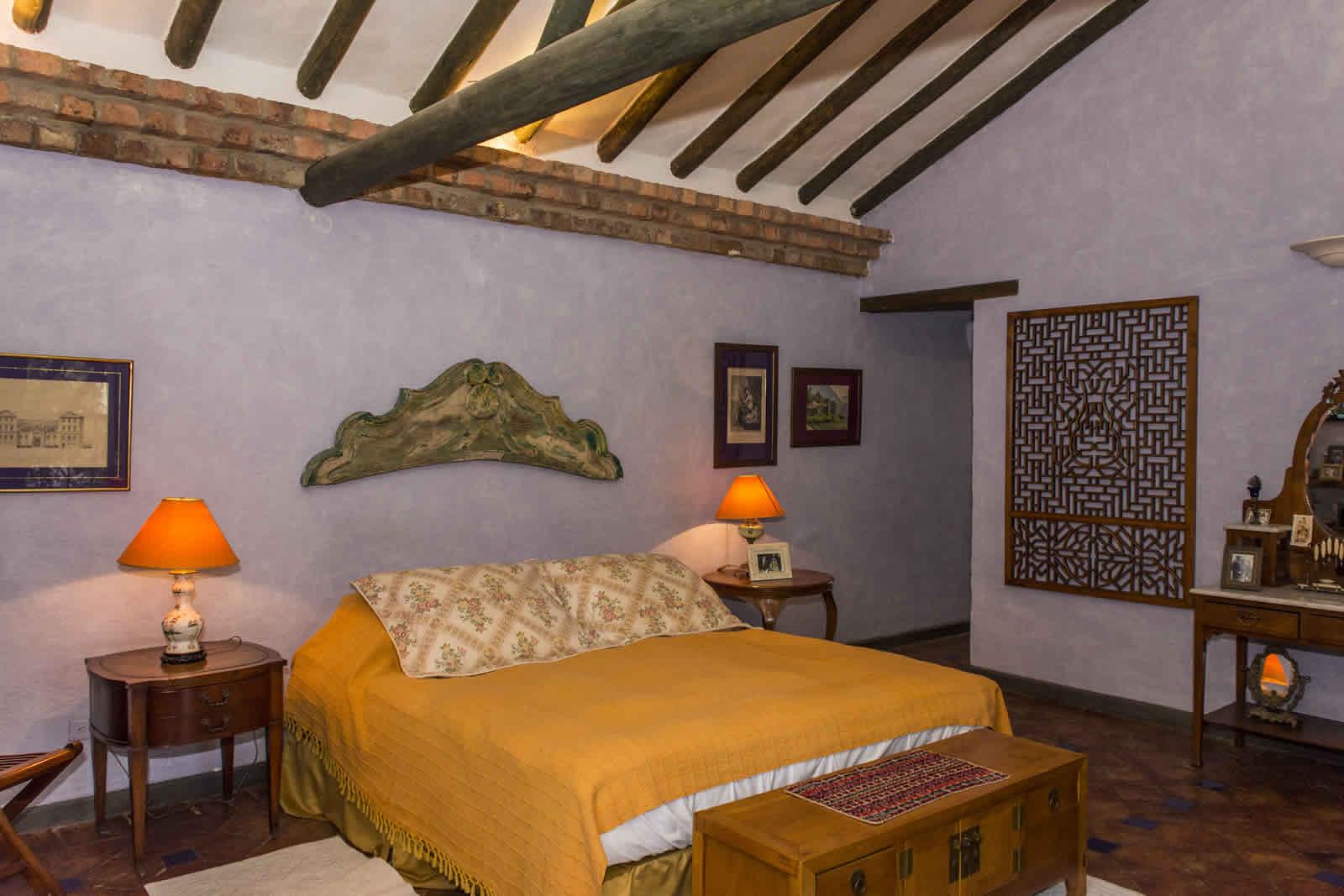 Habitación principal casa oasis para alquiler en Villa de Leyva