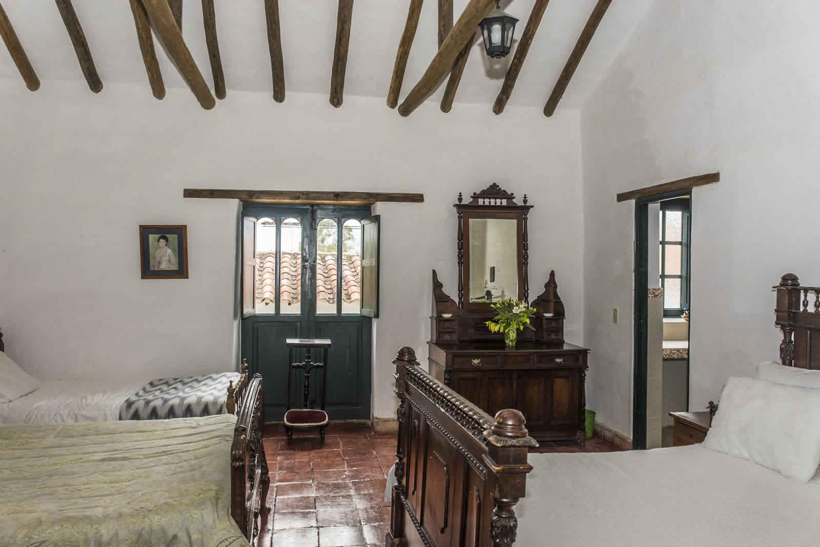 Habitación principal casa Shonsua Villa de Leyva