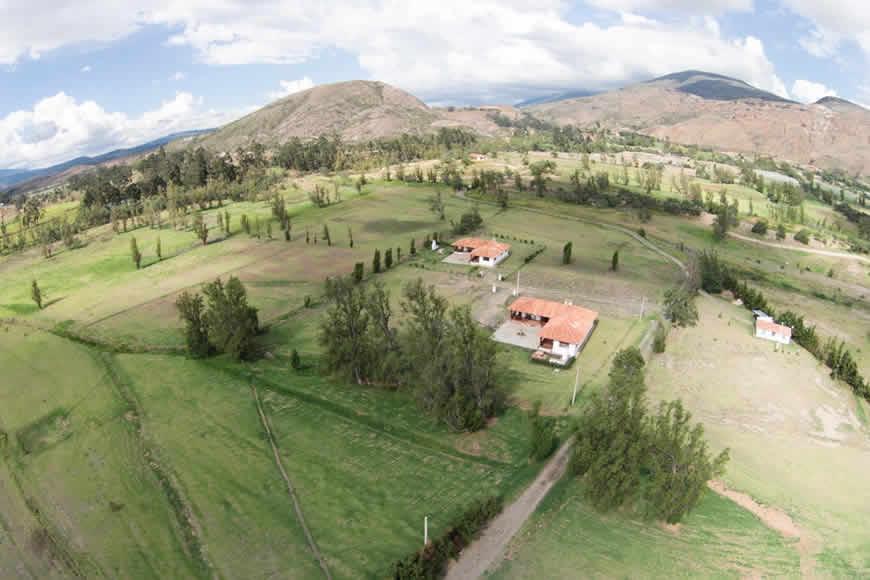 Hacienda veracruz villa de leyva vista aerea