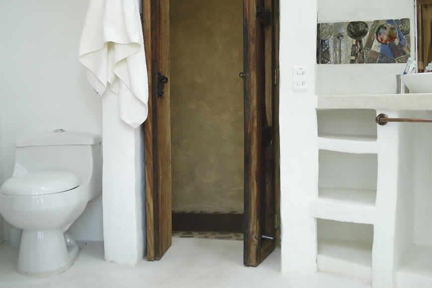 Baño habitacion principal casa San Juan de Luz 1 en Villa de Leyva