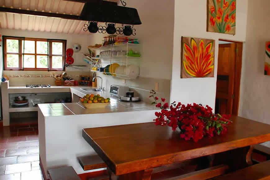 cocina casa loma de los vientos en Villa de Leyva
