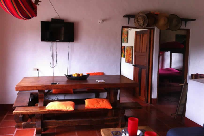 comedor casa loma de los vientos en Villa de Leyva