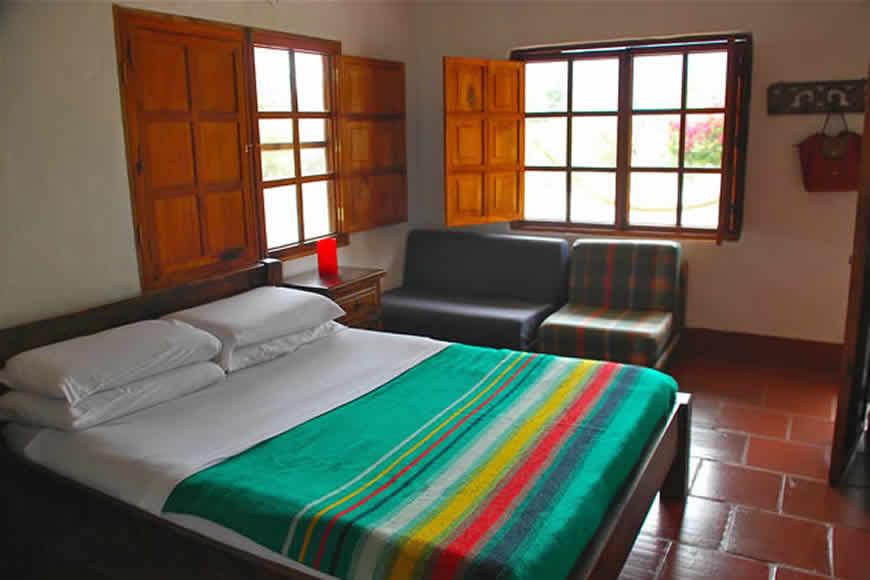 habitacion principal casa lom de los vientos en Villa de Leyva