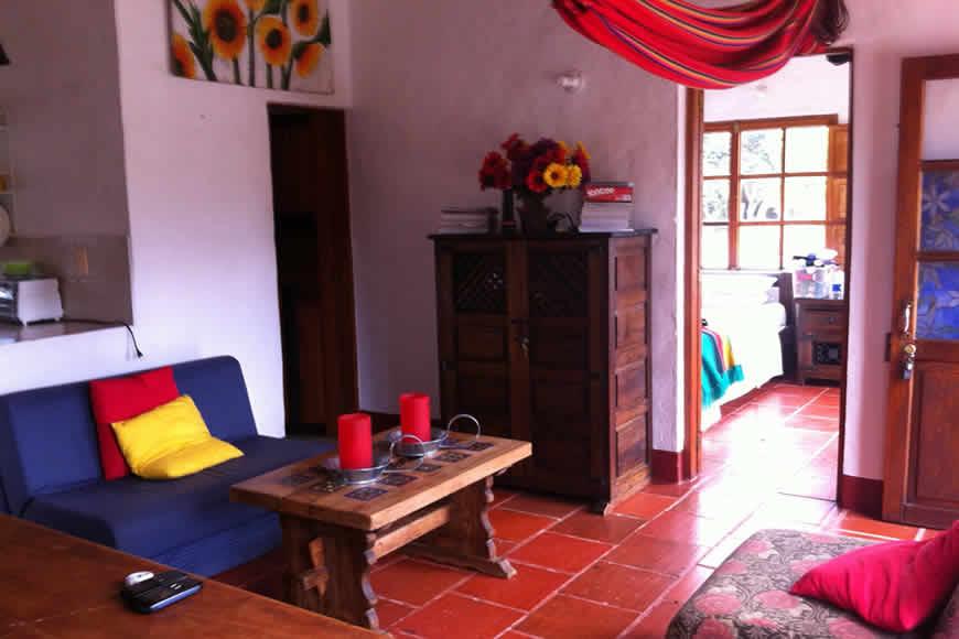 Sala casa loma de los vientos en Villa de Leyva