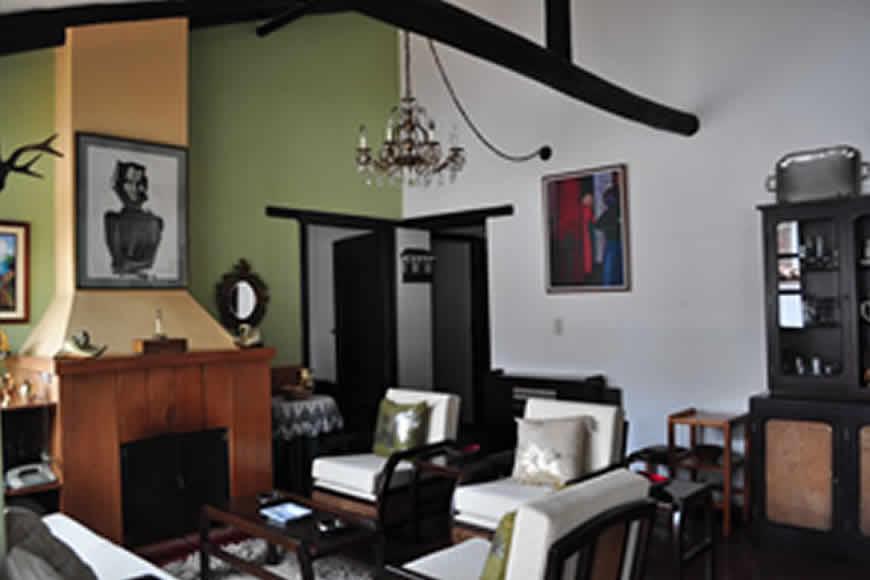chimenea casa La María en Villa de Leyva