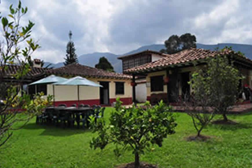 patio 2 casa La María en Villa de Leyva