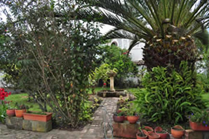 patio casa La María en Villa de Leyva
