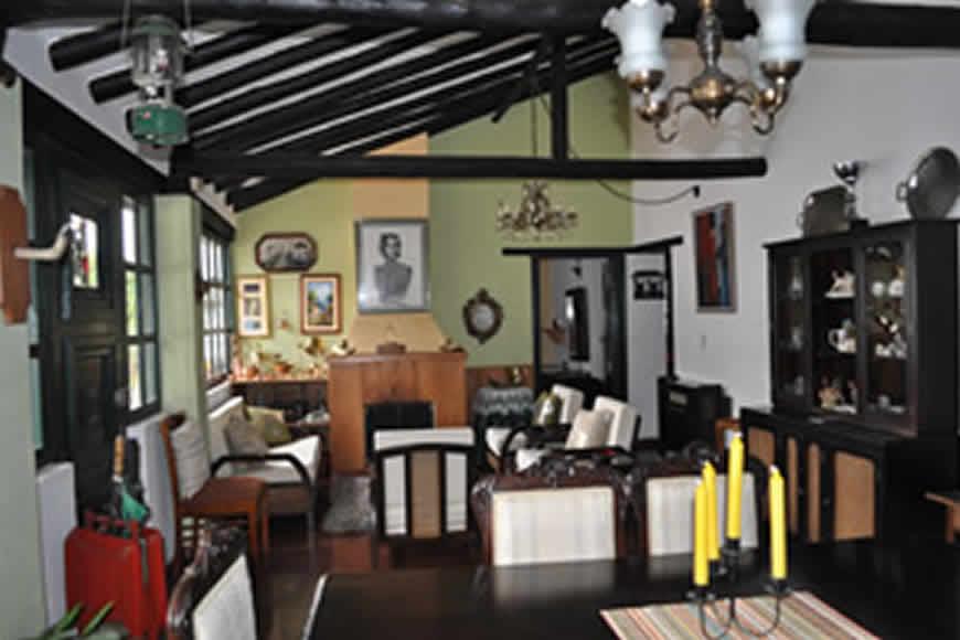 Sala - Comedor casa La María en Villa de Leyva