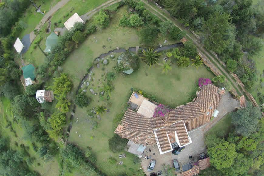 Finca Montecatini foto aerea