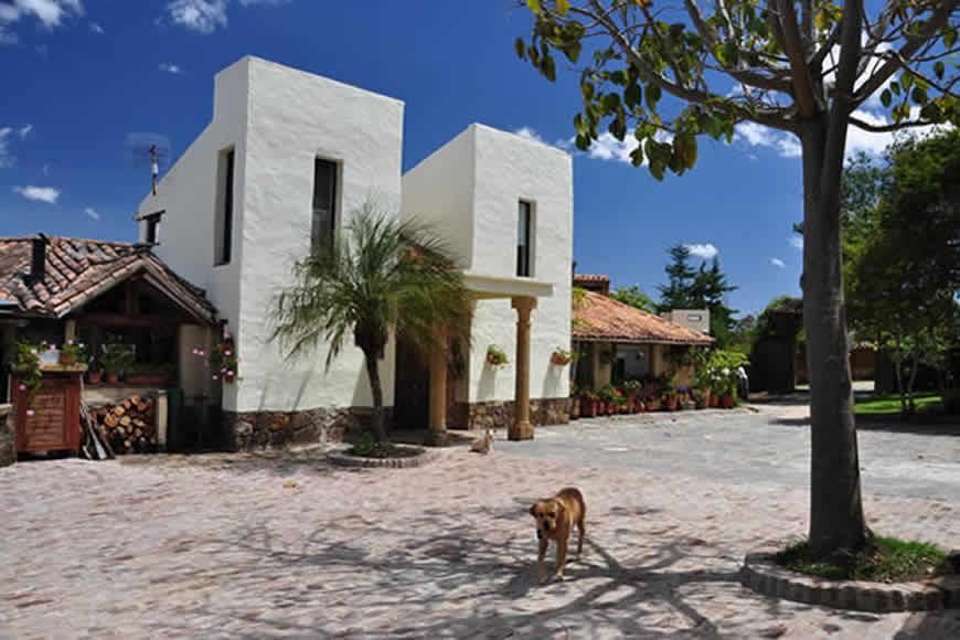 Fachada Finca Montecatini en Villa de Leyva