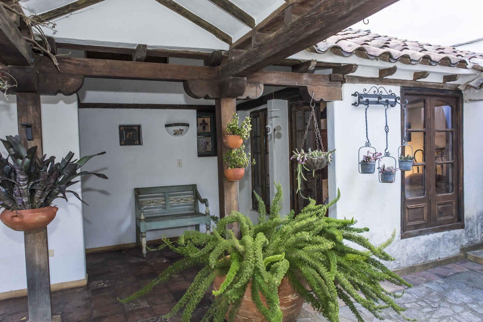 Pasillo casa oasis para alquiler en Villa de Leyva