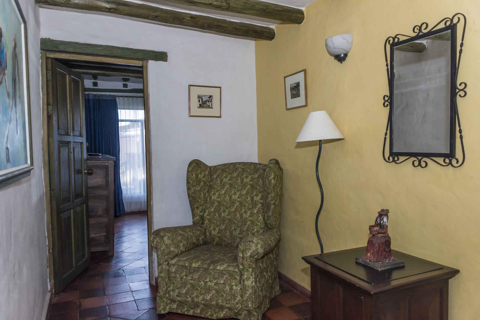 Pasillo de la casa de los castillo en Villa de Leyva