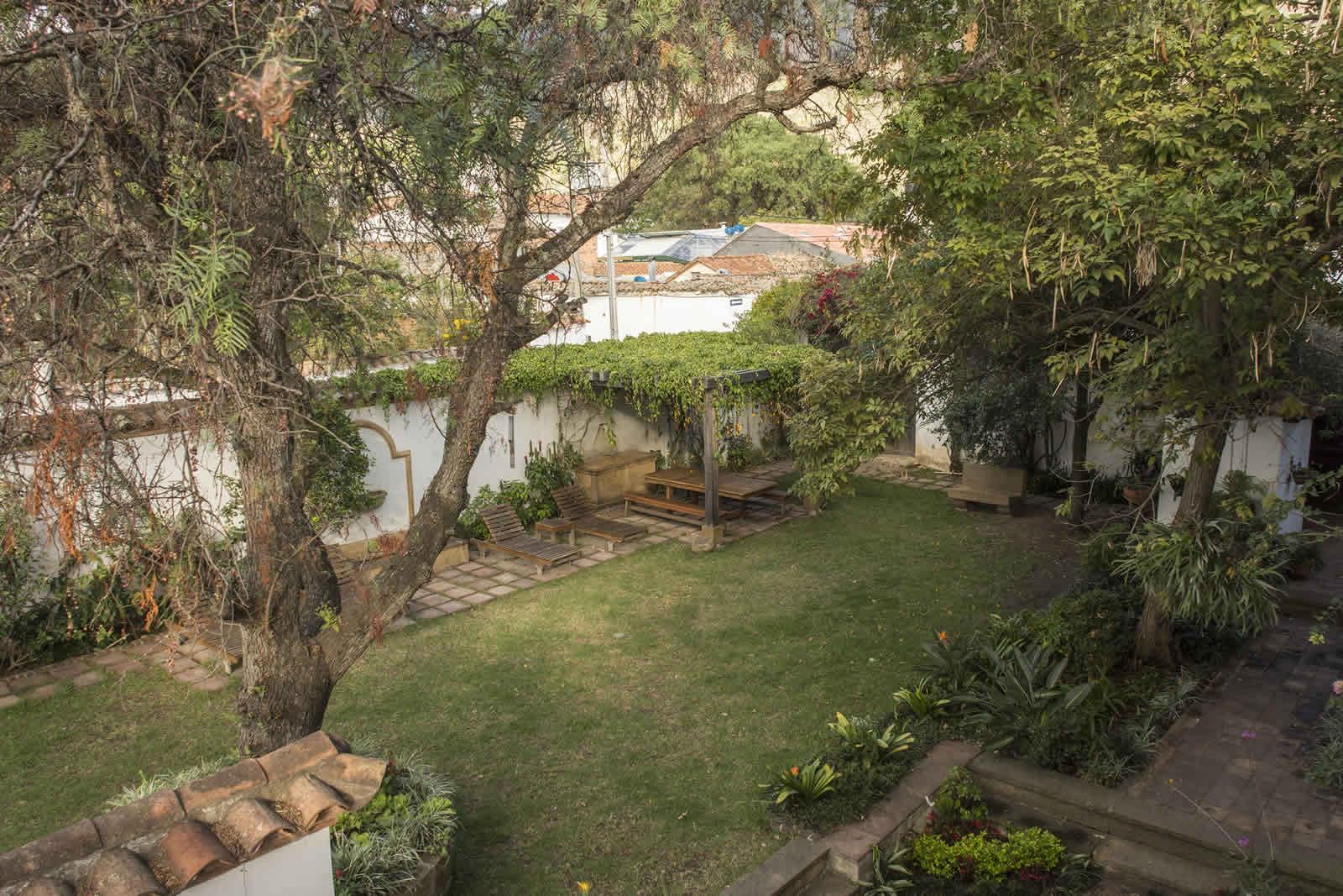 Patio casa oasis alquiler villa de leyva