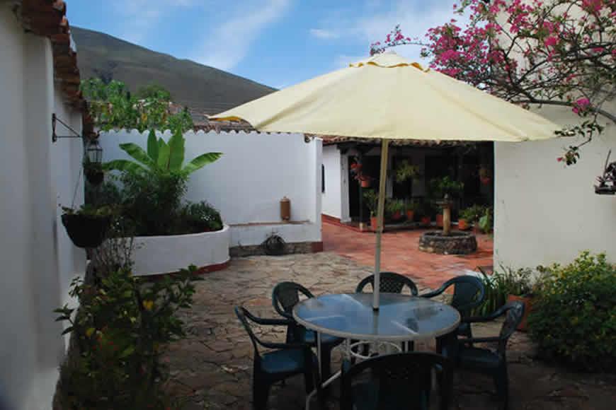 Patio casa villa diego en Villa de Leyva