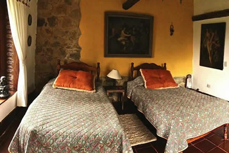habitación 2 casa pozo azul en Villa de Leyva