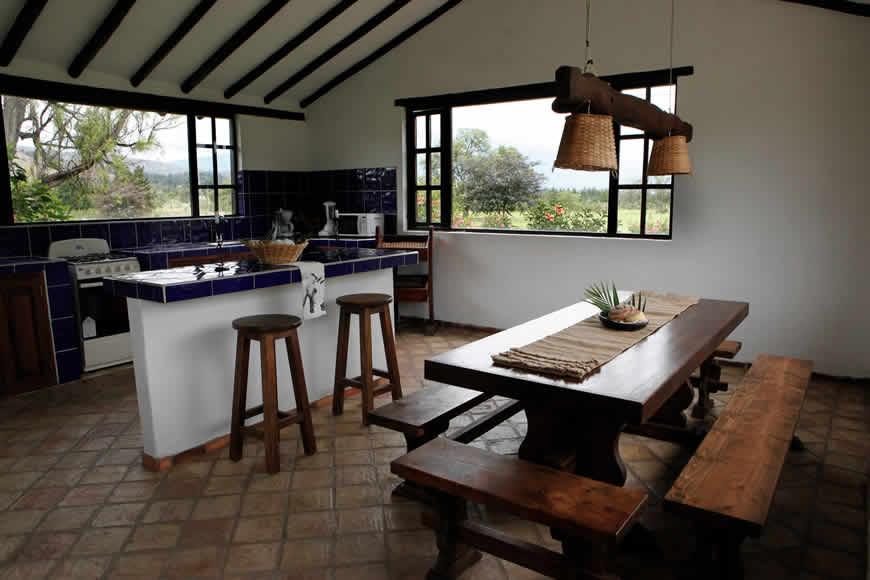 Cocina casa del río en Villa de Leyva