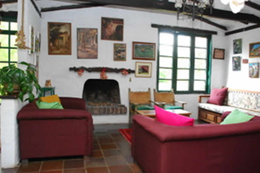 Sala cabaña la rupa en Villa de Leyva