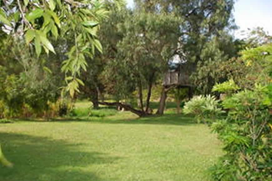zona verde cabaña la rupa en Villa de Leyva