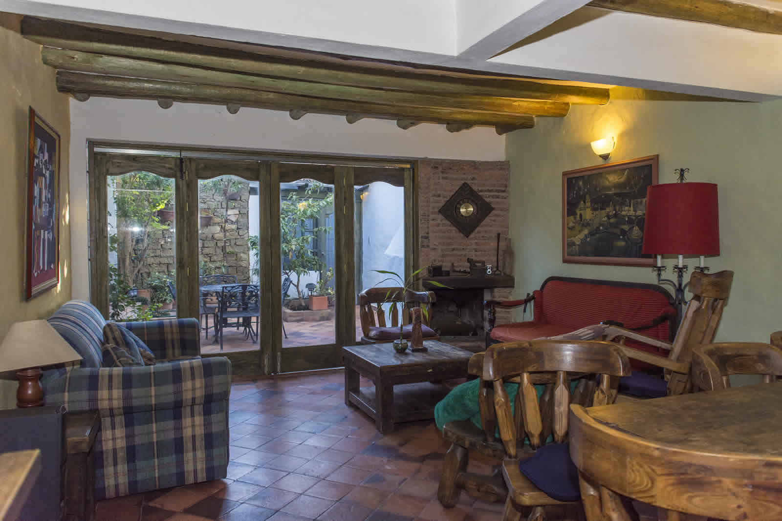 Sala de la casa de los castillo en Villa de Leyva