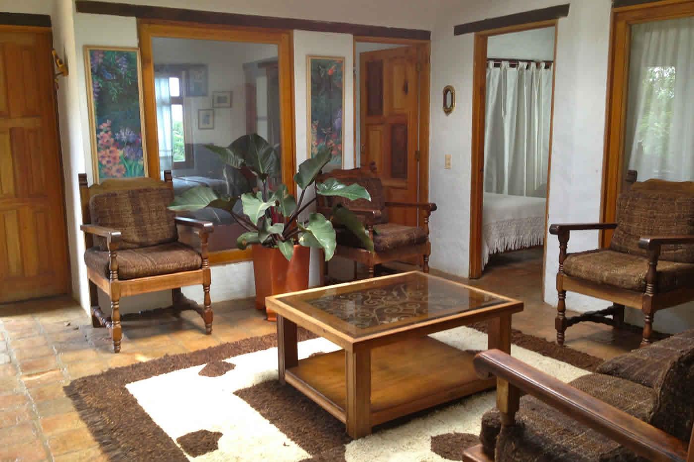 Sala de la casa flores en Villa de Leyva