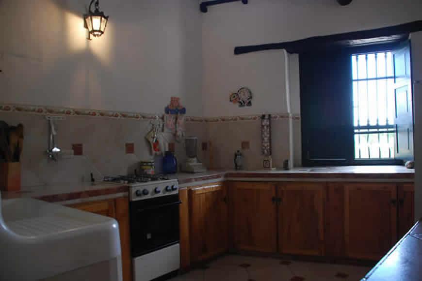 Cocina casa shonsua en Villa de Leyva