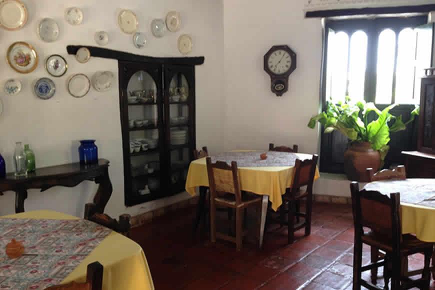 Comedor casa shonsua en Villa de Leyva