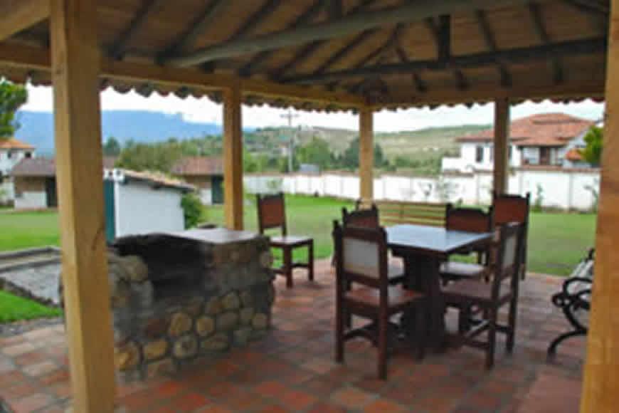 kiosco casa Tamoe en Villa de Leyva