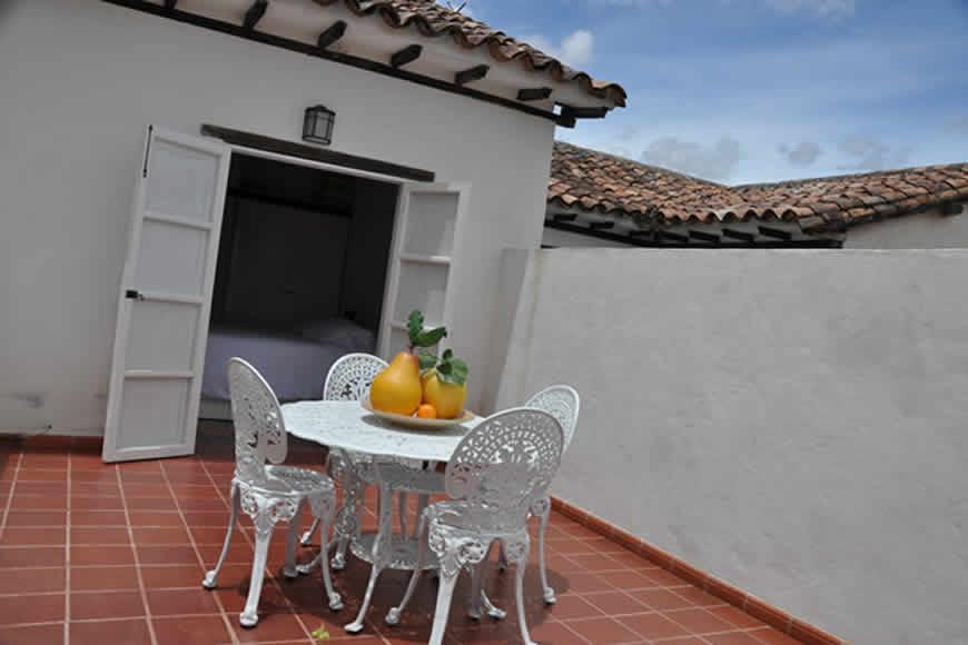 Terraza casa valparaiso en Villa de Leyva