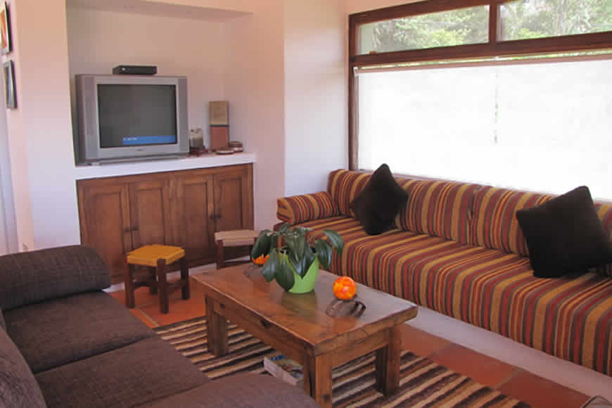 Sala casa del viento en Villa de Leyva