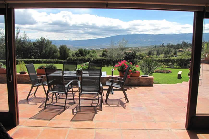 Terraza casa del viento en Villa de Leyva
